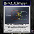 Jolly Roger Emanuel Wynne Pirate Flag SL Decal Sticker Sparkle Glitter Vinyl 120x120
