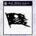 Jolly Roger Pirate Flag D2 Decal Sticker Black Logo Emblem 120x120
