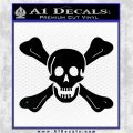 Jolly Roger Richard Worley Crossbones Decal Sticker. Black Logo Emblem 120x120