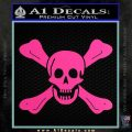 Jolly Roger Richard Worley Crossbones Decal Sticker. Hot Pink Vinyl 120x120