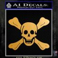 Jolly Roger Richard Worley Crossbones Decal Sticker. Metallic Gold Vinyl 120x120