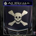 Jolly Roger Richard Worley Crossbones Decal Sticker. Silver Vinyl 120x120