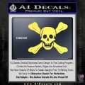 Jolly Roger Richard Worley Crossbones Decal Sticker. Yelllow Vinyl 120x120