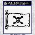 Jolly Roger Richard Worley Pirate Flag INT Decal Sticker Black Logo Emblem 120x120