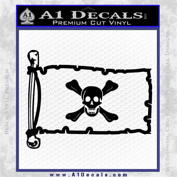 Jolly Roger Richard Worley Pirate Flag INT Decal Sticker Black Logo Emblem