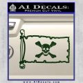 Jolly Roger Richard Worley Pirate Flag INT Decal Sticker Dark Green Vinyl 120x120