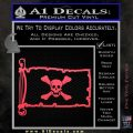Jolly Roger Richard Worley Pirate Flag INT Decal Sticker Pink Vinyl Emblem 120x120