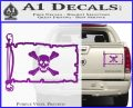 Jolly Roger Richard Worley Pirate Flag INT Decal Sticker Purple Vinyl 120x97