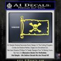 Jolly Roger Richard Worley Pirate Flag INT Decal Sticker Yelllow Vinyl 120x120