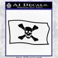 Jolly Roger Richard Worley Pirate Flag SL Decal Sticker. Black Logo Emblem 120x120