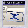 Jolly Roger Richard Worley Pirate Flag SL Decal Sticker. Blue Vinyl 120x120