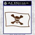 Jolly Roger Richard Worley Pirate Flag SL Decal Sticker. Brown Vinyl 120x120