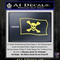 Jolly Roger Richard Worley Pirate Flag SL Decal Sticker. Yelllow Vinyl 120x120