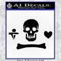 Jolly Roger Stede Bonnet Crossbones Decal Sticker. Black Logo Emblem 120x120