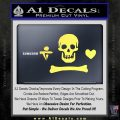 Jolly Roger Stede Bonnet Crossbones Decal Sticker. Yelllow Vinyl 120x120
