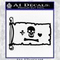 Jolly Roger Stede Bonnet Pirate Flag INT Decal Sticker Black Logo Emblem 120x120