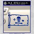 Jolly Roger Stede Bonnet Pirate Flag INT Decal Sticker Blue Vinyl 120x120