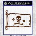 Jolly Roger Stede Bonnet Pirate Flag INT Decal Sticker Brown Vinyl 120x120