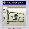 Jolly Roger Stede Bonnet Pirate Flag INT Decal Sticker Dark Green Vinyl 120x120