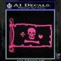 Jolly Roger Stede Bonnet Pirate Flag INT Decal Sticker Hot Pink Vinyl 120x120