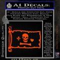 Jolly Roger Stede Bonnet Pirate Flag INT Decal Sticker Orange Vinyl Emblem 120x120