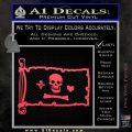 Jolly Roger Stede Bonnet Pirate Flag INT Decal Sticker Pink Vinyl Emblem 120x120