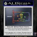 Jolly Roger Stede Bonnet Pirate Flag INT Decal Sticker Sparkle Glitter Vinyl 120x120