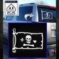Jolly Roger Stede Bonnet Pirate Flag INT Decal Sticker White Emblem 120x120