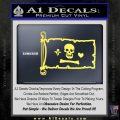 Jolly Roger Stede Bonnet Pirate Flag INT Decal Sticker Yelllow Vinyl 120x120