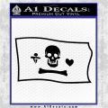 Jolly Roger Stede Bonnet Pirate Flag SL Decal Sticker Black Logo Emblem 120x120