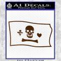 Jolly Roger Stede Bonnet Pirate Flag SL Decal Sticker Brown Vinyl 120x120