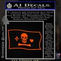 Jolly Roger Stede Bonnet Pirate Flag SL Decal Sticker Orange Vinyl Emblem 120x120