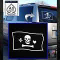 Jolly Roger Stede Bonnet Pirate Flag SL Decal Sticker White Emblem 120x120