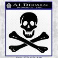 Jolly Rogers Edward England Crossbones Decal Sticker Black Logo Emblem 120x120
