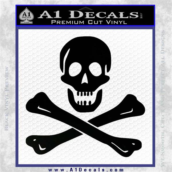 Jolly Rogers Edward England Crossbones Decal Sticker Black Logo Emblem