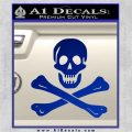 Jolly Rogers Edward England Crossbones Decal Sticker Blue Vinyl 120x120