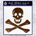 Jolly Rogers Edward England Crossbones Decal Sticker Brown Vinyl 120x120