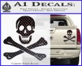 Jolly Rogers Edward England Crossbones Decal Sticker Carbon Fiber Black 120x97