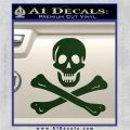 Jolly Rogers Edward England Crossbones Decal Sticker Dark Green Vinyl 120x120