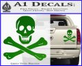 Jolly Rogers Edward England Crossbones Decal Sticker Green Vinyl 120x97