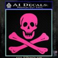 Jolly Rogers Edward England Crossbones Decal Sticker Hot Pink Vinyl 120x120