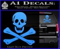 Jolly Rogers Edward England Crossbones Decal Sticker Light Blue Vinyl 120x97