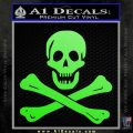Jolly Rogers Edward England Crossbones Decal Sticker Lime Green Vinyl 120x120