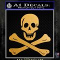 Jolly Rogers Edward England Crossbones Decal Sticker Metallic Gold Vinyl 120x120
