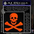 Jolly Rogers Edward England Crossbones Decal Sticker Orange Vinyl Emblem 120x120