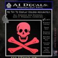 Jolly Rogers Edward England Crossbones Decal Sticker Pink Vinyl Emblem 120x120