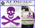 Jolly Rogers Edward England Crossbones Decal Sticker Purple Vinyl 120x97