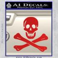 Jolly Rogers Edward England Crossbones Decal Sticker Red Vinyl 120x120