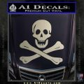 Jolly Rogers Edward England Crossbones Decal Sticker Silver Vinyl 120x120