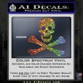 Jolly Rogers Edward England Crossbones Decal Sticker Sparkle Glitter Vinyl 120x120